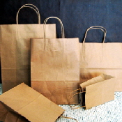 100% recycled paper shoppers