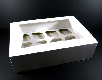 6 and 12 cupcake box with window