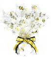 bee print cello basket wrap